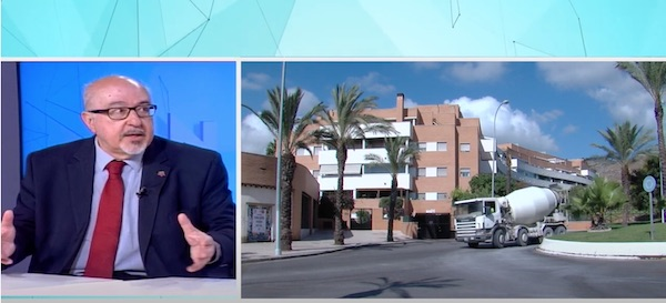 El presidente del CAF Málaga, Alejandro Pestaña, reivindica la figura esencial del Administrador de Fincas en Torremolinos TV