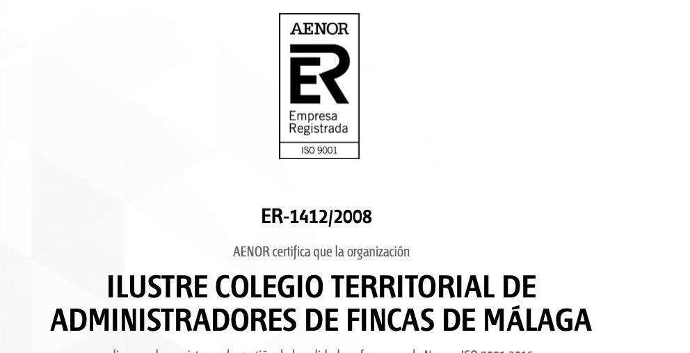 El CAF Málaga obtiene la renovación del certificado de calidad AENOR