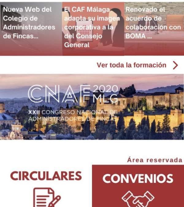 Ya disponible la aplicación móvil del Colegio de Administradores de Fincas de Málaga y Melilla