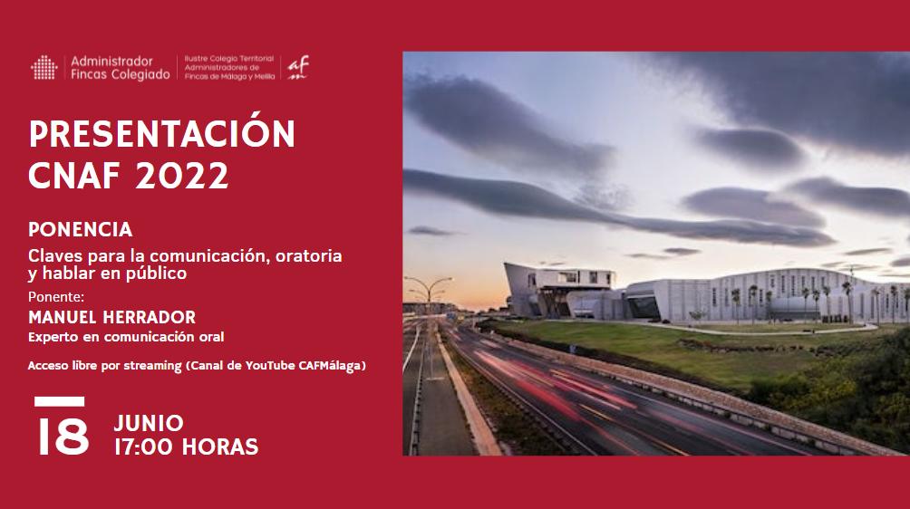 El CNAF2022 se presentará online el próximo 18 de junio