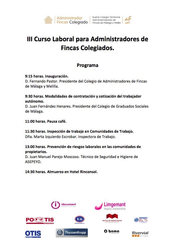 CAFMalaga III Curso Laboral Programa
